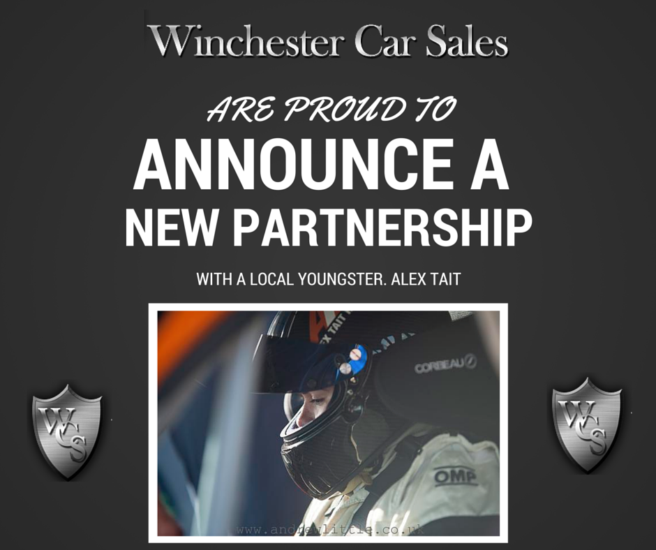 Winchester Car Sales Proud To Announce New Partnership With Sheffield Racing Driver