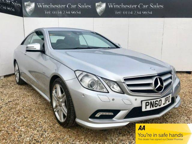 Mercedes-Benz E Class 3.0 E350 CDI BlueEFFICIENCY Sport 2dr Tip Auto FDSH SAT-NAV CRUISE 18 INCH ALLOYS £1000 OFF Coupe Diesel Silver at Winchester Car Sales Sheffield