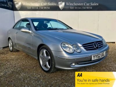 Mercedes-Benz CLK 5.0 CLK500 Avantgarde 2dr FSH AMG ALLOYS SAT NAV LEATHER FUTURE CLASSIC STUNNING CONDITION Coupe Petrol Silver at Winchester Car Sales Sheffield